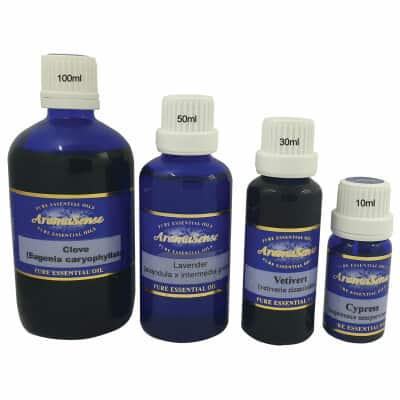 Buy essential oils in 10ml, 30ml, 50ml or 100ml