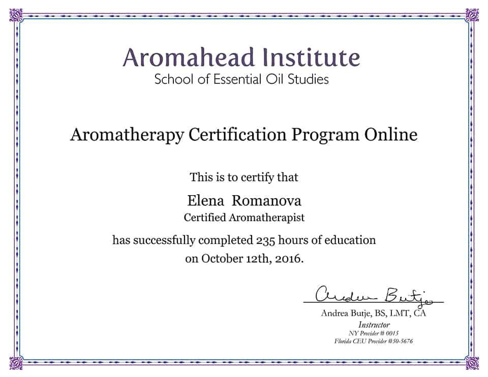 Certified Aromatherapist
