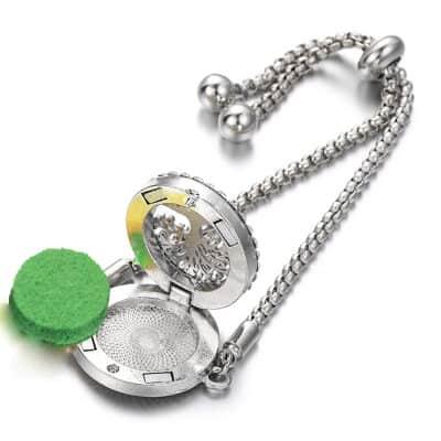 Aromatherapy bracelet opened