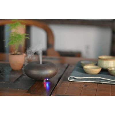 Dark wood electric diffuser