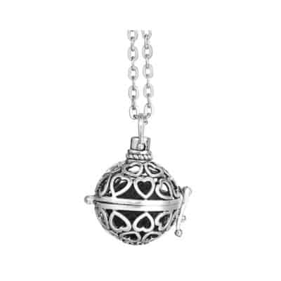 Heart ball necklace diffuser