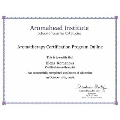 Aromatherapy Certificate