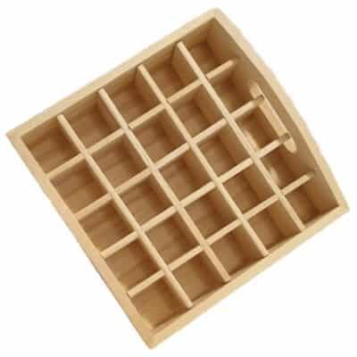 Loose pine tray essential oil storage